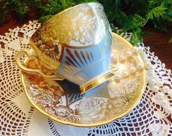 Royal Stafford 1950's teacup and saucer