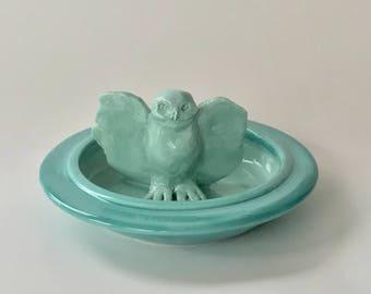 Handmade Ceramic Owl Jewelry Dish