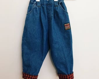 Retro Toddler Jeans with Detail
