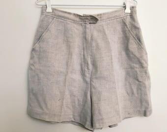 Linen High Waisted Shorts