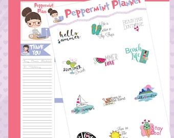 Summer Love, Planner stickers, stickers #359