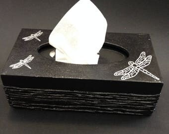 Wooden (MDF) Tissue Box Cover – Dragonfly Design