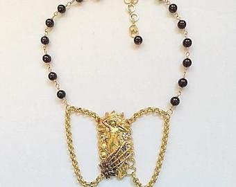 30% Off - Free Shipping Gothic Goddess - 24kt. Gold Plated - Handmade Original