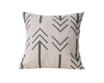 Arrow decorative pillow cover Tribal throw pillow covers Linen pillow cases Ethnic cushion case Colorful cushion cover Home decor gift 18x18