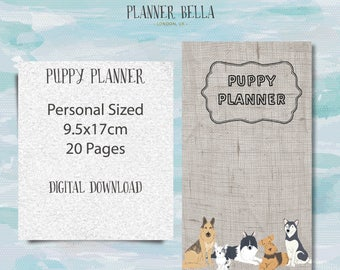 Puppy Planner Printable Personal Size