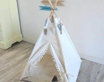 Teepee for your pet in off-white. Dog, cat or rabbit.