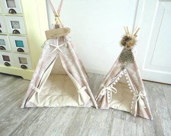 Teepee for a rabbit. Each teepee in my listings also in smaller size.