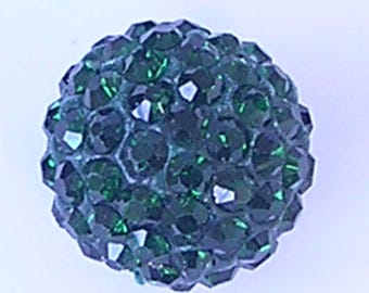 10 Emerald Quality Pave Rhinestone Disco Balls 8mm 10mm 12mm Shamballa Beads