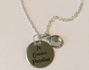 Gilmore Girls In Omnia Paratus charm necklace