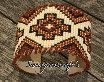 Beaded cuff, cuff bracelet, Native American cuff, bracelet, First Nations cuff bracelet, Beaded Bracelet, southwestern cuff, boho bracelet