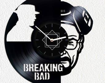 Vinyl clock Breaking Bad