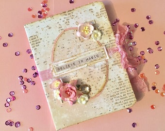 Believe in magic A6 notebook journal diary vintage