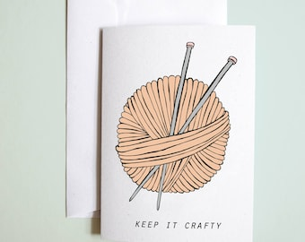 keep it crafty // greetings card // crafty // birthday // well done // congratulations // just because card