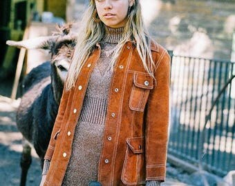 Winjilli metallic copper burnt knit long dress