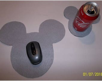 Novelty Computer Mouse Pad & Coaster Set