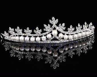 Girls princess crystal bridal tiara trendy headband wedding bride Tiaras and Crowns for rhinestone hair accessories