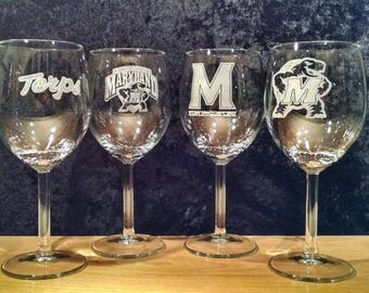 Maryland TERPS Wine Glass 4-pack