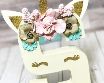 Unicorn initial Letters - Unicorn Birthday - Unicorn Decorations - unicorn room decorations - unicorn Birthday Decor - unicorn prop