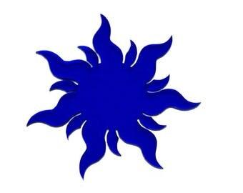 Coasters model 4 (Sun) blue 3 mm PMMA