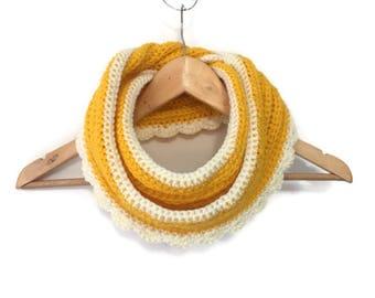 Crochet Infinity Scarf, cowl, crocheted scarf, neck wrap, neck warmer