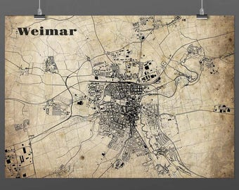 Weimar DIN A4 / DIN A3 - print - turquoise