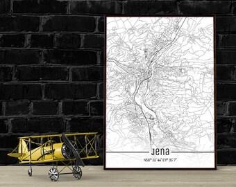 Jena-Just a map-din A4/A3-Print