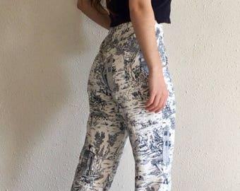 Women's Casual Patterned Capri Pants