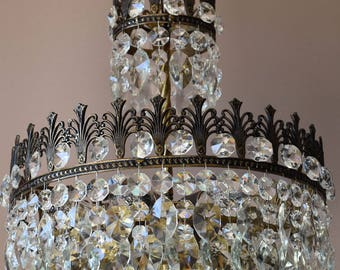 sale handmade antique french vintage crystal chandelier home lighting handmade crystal pendant chic bronze chandelier free