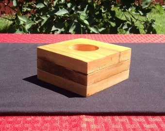Layered TeaLight   Reclaimed Wood   Recycled Item   Pine Candle Holder   Multiple Levels   Stepping Blocks  