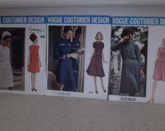 Vogue Couturier Design Vintage Dress Sewing Pattern Bundle