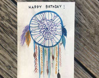 Dream of a Birthday- Birthday Card- Hand Painted- Watercolor- By Joanna Weinreich