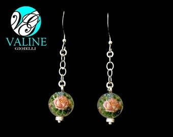 Floral 925 Silver earrings with pearls
