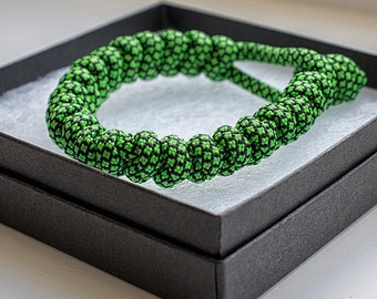 Green Snakeskin Paracord Bracelet by Paracord Buddy