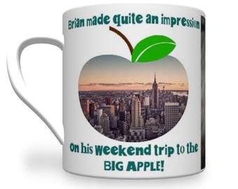 Big Apple Mug. New York Mug. Personalised New York Mug.