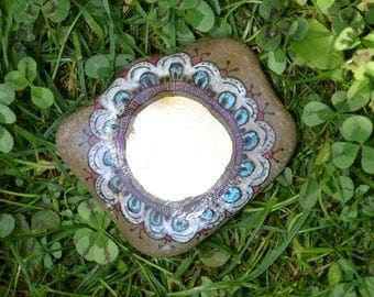 Mandala stone, voluptuous, ISAR River Pebble