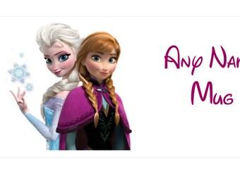 Personalised Disney Frozen Elsa Anna Mug Birthdays Presents Gifts