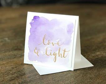 Handmade Mini Card - Love
