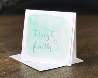 Handmade Mini Card - Trust