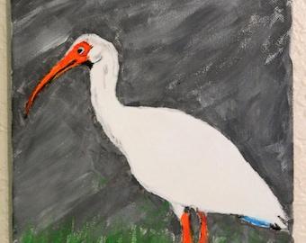 Bird Painting (Ibis)
