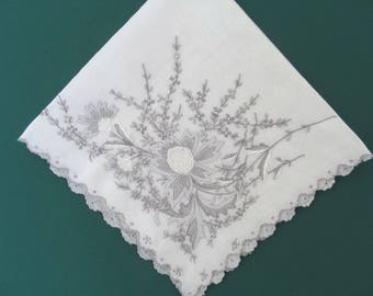 SWISS APPENZELL HANKY 1920s large size