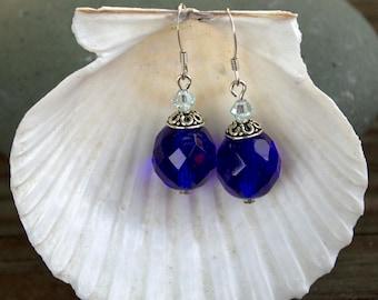 Cobalt Blue Ocean Earrings