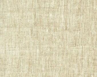 Waterford Linen in Natural - Robert Kaufman cotton linen fabric