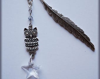 OWL bookmark Swarovski crystals