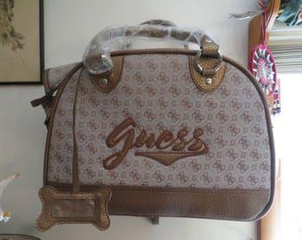 Vintage Guess Designer Pet Carrier Bag