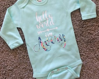 Hello World Personalized Onesie