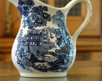 Royal Staffordshire Tonquin Blue Creamer
