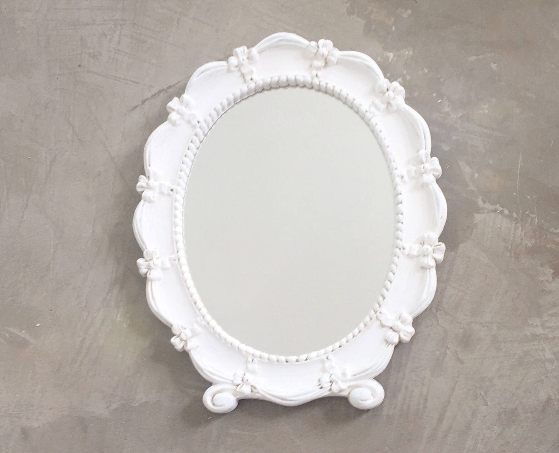 shabby chic blanc vintage miroir miroir syroco vintage. Black Bedroom Furniture Sets. Home Design Ideas
