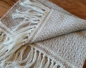 Hand woven alpaca Scarf in Italy, gift idea, 100% alpaca