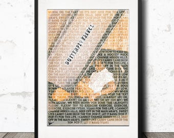 Travis Scott Butterfly Effect Lyric Poster Print - A4 Limited Edition