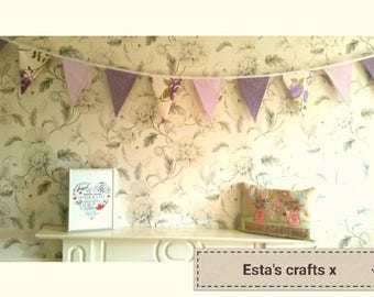 Bunting Wedding Marquee Bunting Shabby Chic Double Sided Bespoke Beautiful Bunting Made To Measure Country Cottage